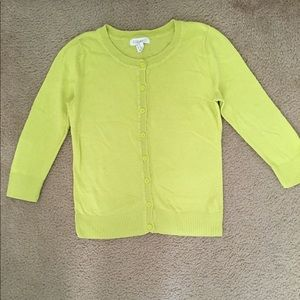 Forever 21 Lime Green Cardigan